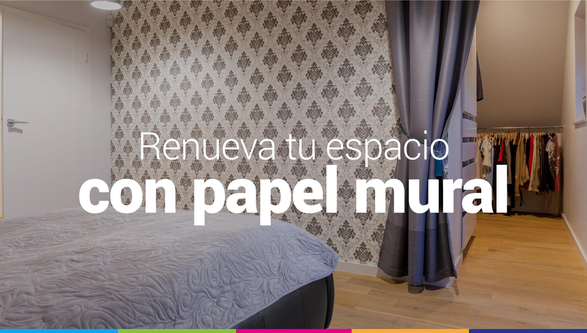 renovar espacios con papel mural