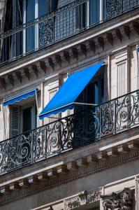 Toldo para apartamento azul